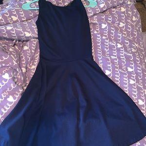 Aqua dress from Bloomingdales